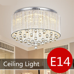 Crystal Ceiling Light Pendant Lamp Modern Fashion White Purple Red Black Fabric Chandelier Living Room Bedroom