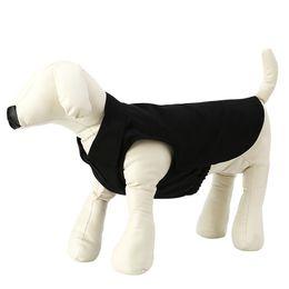 Wholesale Chic Dog Clothes - Chic Pet Clothes Solid Color Dog Costume Durable Warmer Vest Fashion Costume Puppy Outdoor Jogging Warm Vest JJ0614