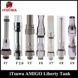 Wholesale V5 Pens - 100%Original Amigo Liberty V1 V5 V6 V7 V8 V9 Vaporizer Pen Cartridges 510 Thick Oil Atomizer for Max Battery
