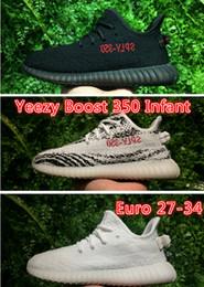 Wholesale Infant Zebra Shoes - Boost 350 Infant Shoes bred zebra white shoes