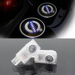 Wholesale Car Door Laser Lights - LED Car Volvo door courtesy laser projector Logo Ghost Shadow Light For Volvo XC90 S60 C70 V60 V50 V40 XC60 S60L S80L