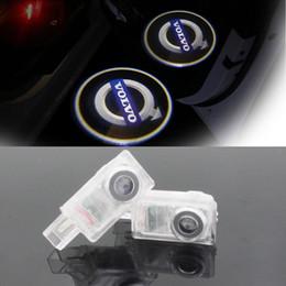 Wholesale Led Courtesy Light Logo - LED Car Volvo door courtesy laser projector Logo Ghost Shadow Light For Volvo XC90 S60 C70 V60 V50 V40 XC60 S60L S80L