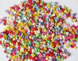 Wholesale Chinese Apparel Wholesalers - 5000Pcs lot Random Mixed 2 Holes Resin Buttons Scrapbooking 6mm Decorative Buttons Apparel Sewing Hot Sale