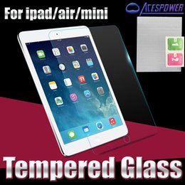 Wholesale Ipad Mini Screen Anti - Tempered Glass 0.3MM Screen Protectors for Ipad Pro 12.9 inch 3 4 Air Air 2 Mini 2 3 4 With Package