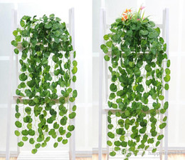 Wholesale Wholesale Garden Supplier - Artificial Silk Green Plants Hanging Scindapsus lvy Foliage Garland Flowers Plants Home and Garden Decorations Wedding Supplier High Quality