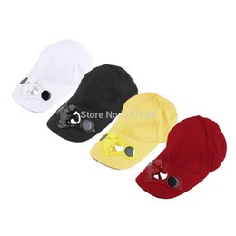 Wholesale Solar Powered Hat Cap - Wholesale-Hot! Free Shipping Fashion Sun Solar Power Hat Cap with Cooling Fan for Outdoor Golf Baseball Hot Sale New Fashion