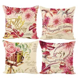 Wholesale Rich Black Printing - flower series pillow case 45cm*45cm Rich flowers bloom series cushion cover brand for pillow cover AL001