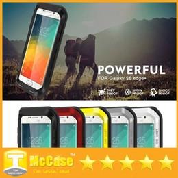 Wholesale Love Mei Powerful - Galaxy S6 Edge Plus Cases,Love Mei Powerful Shockproof Dirtproof Water Resist Aluminum Cover For iPhone 6   6 Plus Note 5 4 S6 Edge Plus