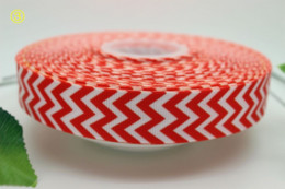 Wholesale Chevron Hairbow Ribbon - ew arrival 7 8'' Free shipping chevron print 11 colors printed grosgrain ribbon hairbow diy party decoration wholesale OEM 22mm M132