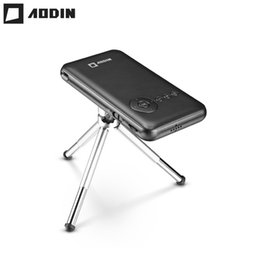 Wholesale Led Projector Android - Wholesale- AODIN M6S 32G portable Smart DLP mini projector WIFI LED projector HD Home theater Android pocket projector HDMI IN Smartphone
