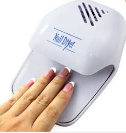 Wholesale Nails Toes Dryer - Wholesale-Nail Art Finger Toe Varnish Dryer Polish Air Drying Blower Fan Breeze Blower Dry