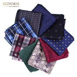 Wholesale Hankerchief Pocket - Wholesale- New cravat Hankerchief Practical Hankies Men's Pocket Print formal wedding 23*23cm dress Collocation accessories