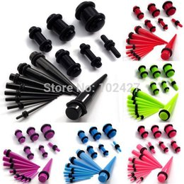 Wholesale Ear Taper Sets - Wholesale-30 Pcs Ear Taper + Plug Kit 1.6mm-10mm Gauges Expander Set Stretchers Body Jewelry Ear Plug Set Drop Free