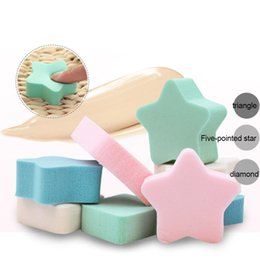 Wholesale Facial Materials - 10set 4Pcs  set Fiber Face Wash Cleansing Sponge Beauty Tools Natural latex material Face Soft Women Facial Sponges Powder Puff A120H030