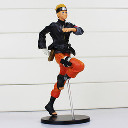Wholesale Naruto Uzumaki Action Figures - Anime Naruto Figures Uzumaki Naruto PVC Action Figure Toys Model Dolls 24cm Approx Great Gift Retail
