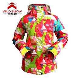 Wholesale Orange Snowboarding Jackets - Wholesale-Winter Skiing and Snowboarding Women Waterproof Windproof Breathable Warm Outdoor Sports Moutain Climbing Hiking Coat Jacket
