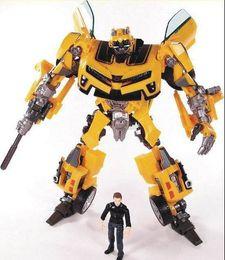 Transformation Robot Human Alliance Bumblebee y Sam Figuras de acción Juguetes para juguetes clásicos anime figure cartoon boy toy desde fabricantes