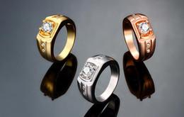 2019 edle ringe 2015 die neue Noble K Gold Zirkon Mode Persönlichkeit Männer Ring Gold / Rose Gold / Perkin Größe US8 US9 US10 10pcs / lot günstig edle ringe