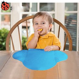 Wholesale Baby Silicone Placemat - Baby Table Mat Waterproof Silicone Pad Mat Infant Tiny Diner Portable Placemat for Baby Feeding 4 colors