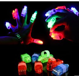 Wholesale Kids Party Rings - 4 COLORS 2016 New Hot LED Mitts Gloves Finger toy beams Ring Lights Rave Party Glow laser fingers kids toys without package CCC1157 5000pcs