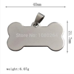 Wholesale Necklace Presentation - 100 Stainless Steel Charms Pendants Bone Shaped Blank Stamping Tag tag presentation pendant perfume pendant perfume
