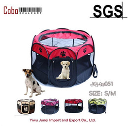 Wholesale Outdoor Tent Pink - Wholesale- Pet Dog Cat Playpen Tent Portable Exercise Fence Kennel Cage Crate Outdoor Bag