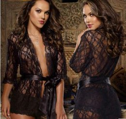Wholesale Lace Undergarments Women - Large size lace undergarment bathrobe nightwear home sexiness The temptation to woman undergarment romantic A gift for a woman
