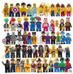 Presentes de super heróis on-line-Blocos de construção super hero toys os brinquedos vingadores hulk hobbies brinquedos mini figuras de ação bricks presentes de natal para crianças