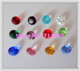 Wholesale Months Stones - Wholesale-5MM 240pcs 12 Months Round-Brilliant-Shape Birth Stone Shiny Crystal Floating Charms For Glass Floating Locket DIY Accessories