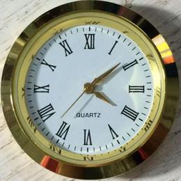 Wholesale fit digital - 37mm Mini Insert Clock Watch Japanese Movement Gold Metal Fit up Clock Insert Roman Mumerals Clock Accessories