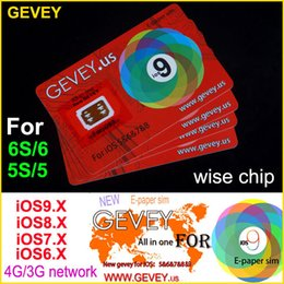 Wholesale Iphone T New - New Gevey Unlock Sim Card Perfect unlock 4G 3G ios9 ios 9.1 ios8.x ios7.X for iphone 6S plus 6 6plus 5s 4s AT&T T-mobile Sprint AU SB DOCOME