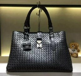 Wholesale Classic Woven - Classic lambskin woven bag woman Top quality handbag luxury brand Fashion 3 layer bag tote Multicolor Large 38cm
