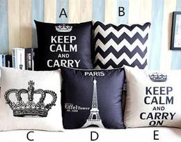 Wholesale Wholesale Decorative Crowns - New Arrive Home Decorative Cotton Linen Blended Crown Throw Pillow Case