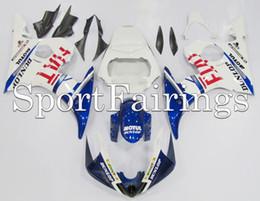 Wholesale R6 Fairing Kit Fiat - Full Fairings For Yamaha YZF600 YZF R6 03 04 05 2003 - 2005 Injection ABS Fairings Motorcycle Fairing Kit Bodywork Cowling Blue White FIAT