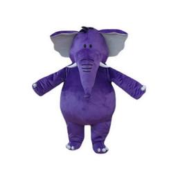 Wholesale Adult Mascot Costume Elephant - Purple Elephant Mascot Costumes Cartoon Character Adult Sz 100% Real Picture 001
