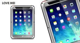 Wholesale Ipad Mini Waterproof Pouch - Original Love Mei Powerful Defender Case For iPad Air 5 air2 Mini 3 Waterproof Dustproof Shockproof Heavy Duty Cover Fashion Back Shell