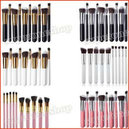 Wholesale Brush Styles - New Makeup tools makeup brushes 6 style makeup brushes sets 10 pieces make up brushes DHL Free shipping