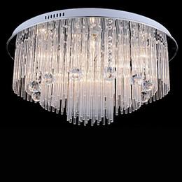 Montagem de teto de cristal vintage on-line-Iluminação moderna do candelabro de cristal do diodo emissor de luz para a sala de jantar do quarto da casa de praia, dispositivos elétricos das lâmpadas do teto de cristal do diodo emissor de luz de AC110-240V