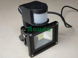 Wholesale Taiwan Ac Led - 20w 10w led flood light,led sensor lights Security Black Gray shell outdoor lighting,110-120lm w taiwan led epistar