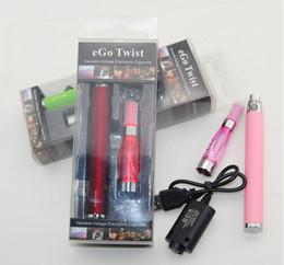Wholesale Ego C Blister - eGo-C Twist Electronic Cigarette Blister kit eGo Kit CE4 Blister Pack 650mAh 900mAh 1100mAh eGo-Twist Battery DHL Free Shipping