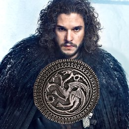 Wholesale classic fire - Game of Thrones Beautiful alloy European Style Resin Brooches Classic Vintage A Song of Ice and Fire joyeria brooch zj-0903011