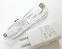 Wholesale Note2 Charger - Wholesale-genuine Original 2A US Plug Wall Charger MICRO USB Cable For Samsung Galaxy S4 I9500 Galaxy S3 I9300 Galaxy Note2 N7100