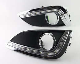 Wholesale Led Daylight Running - Super Bright White LED Daylight Running Lights Car Fog DRL LED Daytime Running Day Light for Hyundai IX35 2010-2013