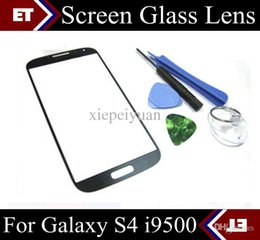 Wholesale Replacement Glass Galaxy S4 - For Samsung Galaxy S4 I9500 replacement Front Outer Screen Lens Glass Waterproof Quality SHA-D