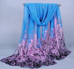 Wholesale Cheap Ladies Scarfs - Mix Colours Fashion Women Elegant Scarves Dandelion Pattern Chiffon Scarf For Lady Best Gift Cheap Price XQ96