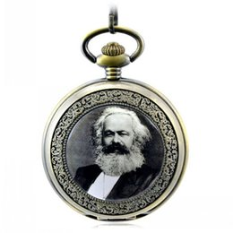 Wholesale Vintage Sale Tags - free shipping hot sale high quality Marx Lenin Stalin classic Vintage Pocket Watch lady men best Gift