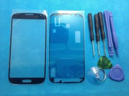 Wholesale Replacement Glass Galaxy S4 - Wholesale-Replacement LCD Front Touch Screen Glass Outer Lens For Samsung Galaxy S4 i9500 i9505 i337 High Quality New tools + stickers
