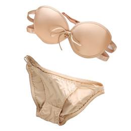 Wholesale Magic Bra Set - Women Invisible Magic Push Up Bra Self Adhesive Seamless Backless Sets Panty FG1511