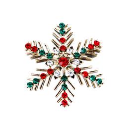 62e994fa1b2 Retro Vintage Christmas Snowflake Rhinestone Crystal Brooch Lapel Pin for Women  Ladies Christmas Gift Jewelry Accessories