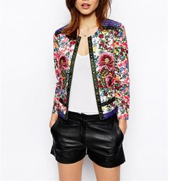 Wholesale women flower cardigans - High Street Spring Summer Jackets Elegant Short Cardigan Ethnic Embroidery Coats Casual Slim Women Jackets Outwear Tops CJ6076